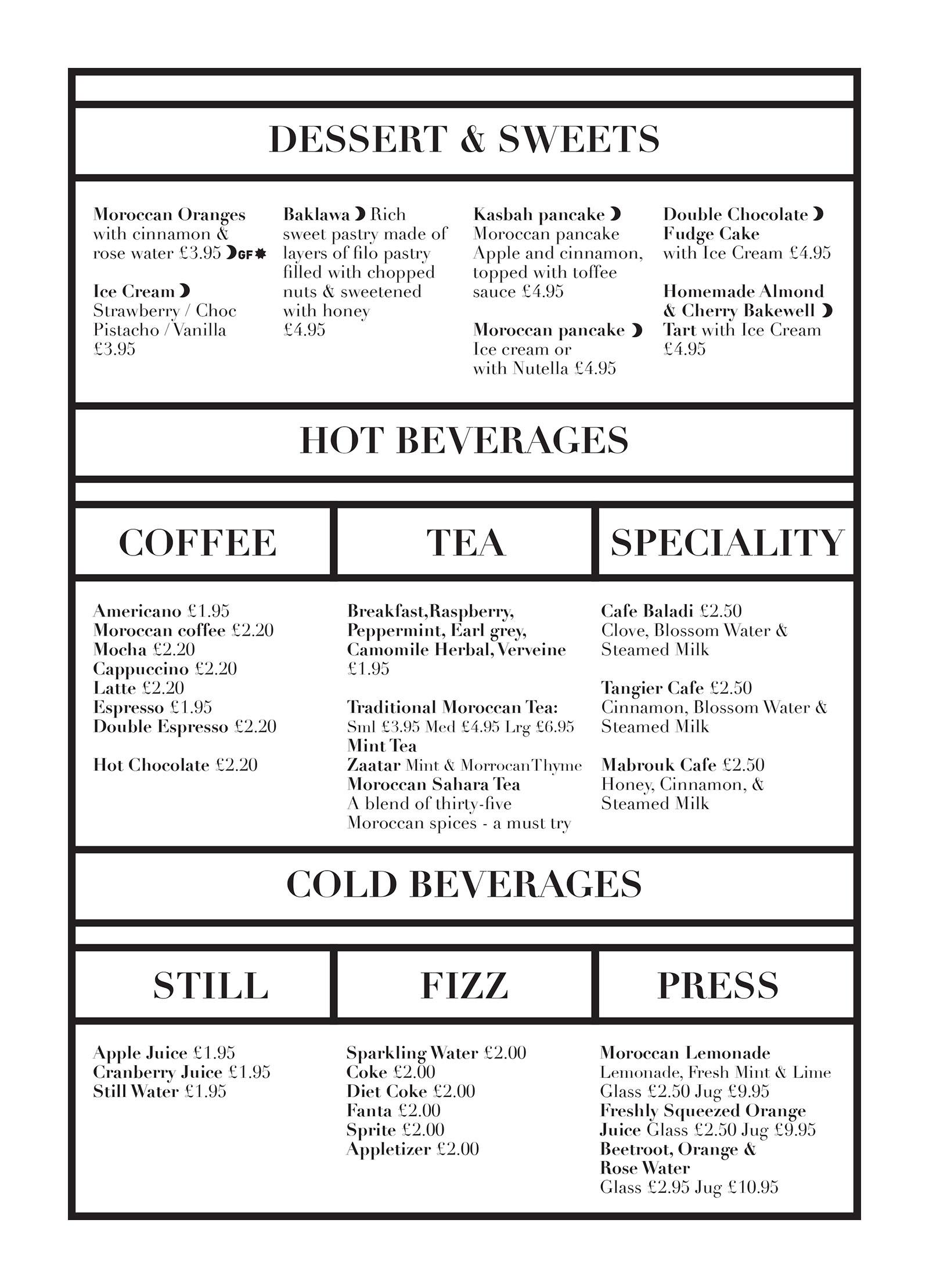 Kabsah Cafe Bazaar | Food and Drink Menu